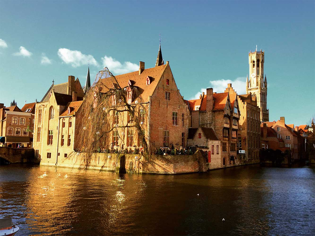 top 10 things to do in Bruges Roezenhoedkaai canal ride