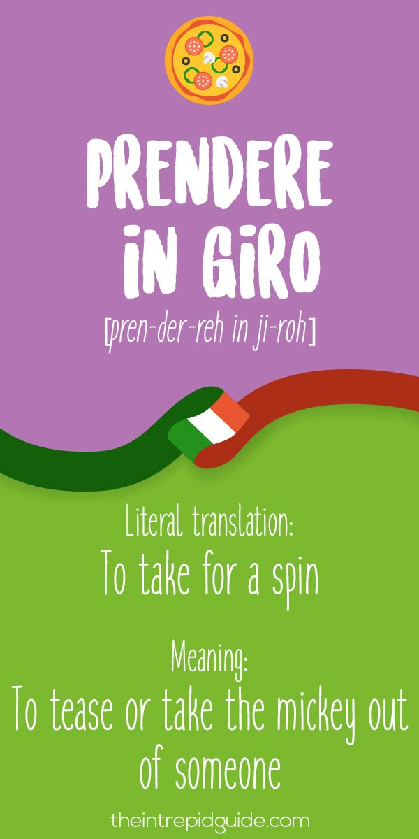 Italian Expressions Prendere in giro