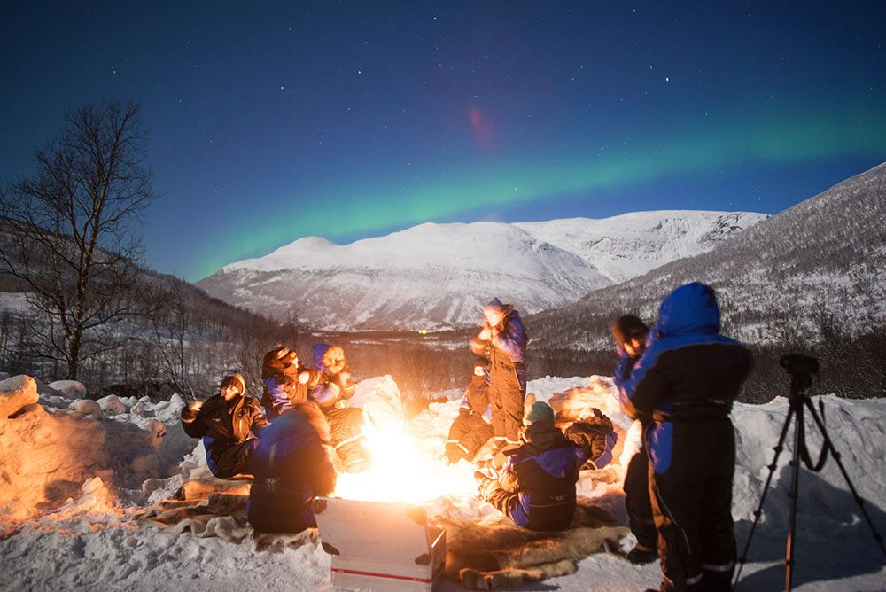 best place to see the Northern Lights Bonfire