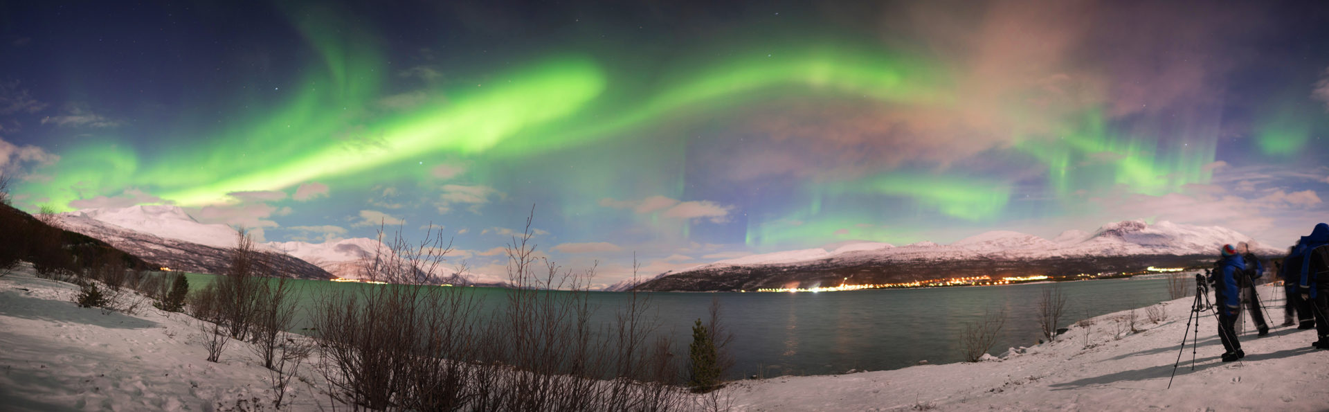 best place to see the Northern Lights Panorama
