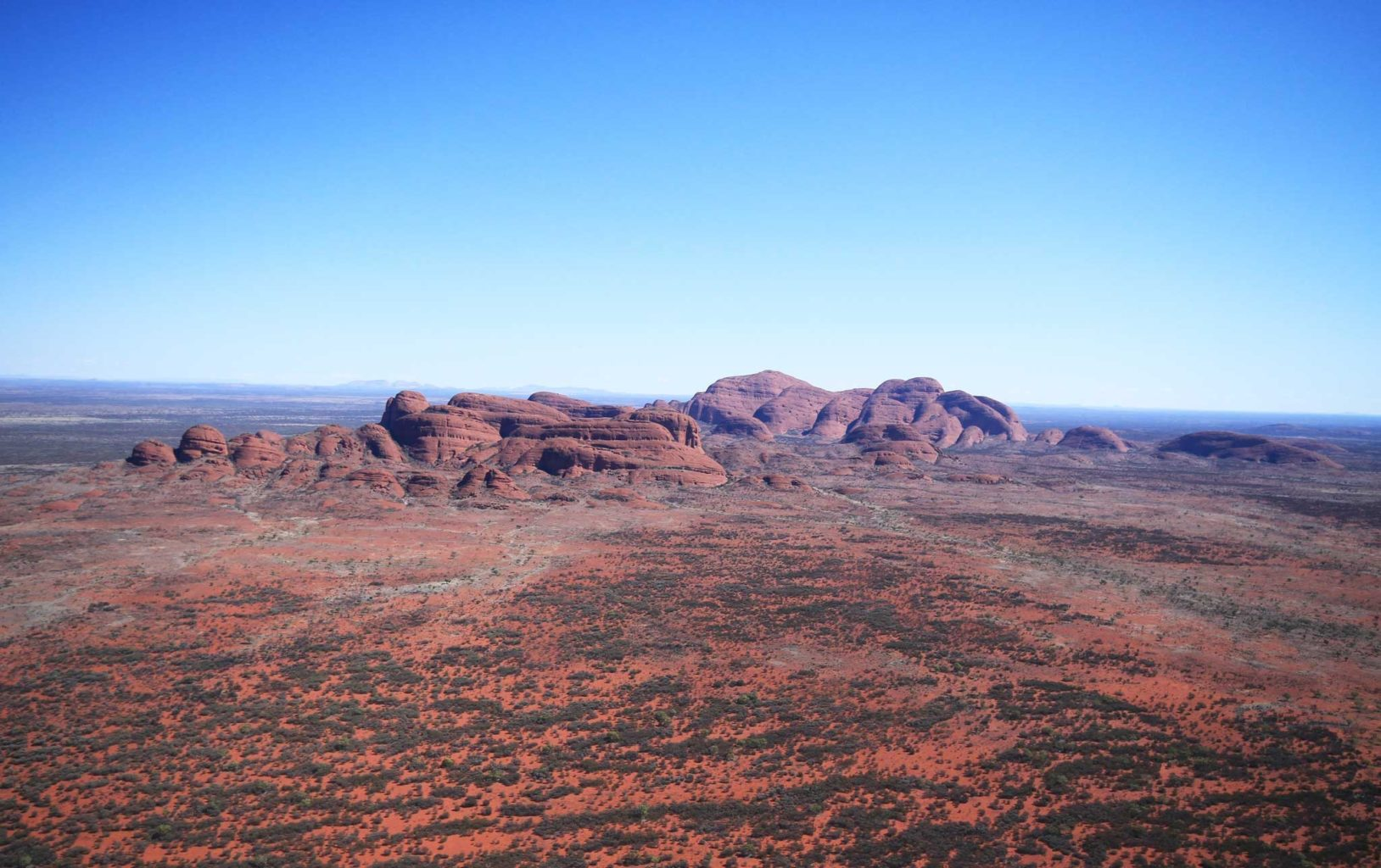 things to do in the australian outback - helicopter ride the olgas
