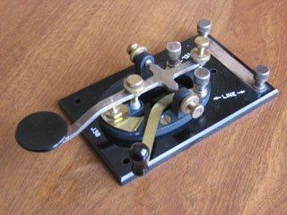 Text Slang Morse Code Telegraph Key