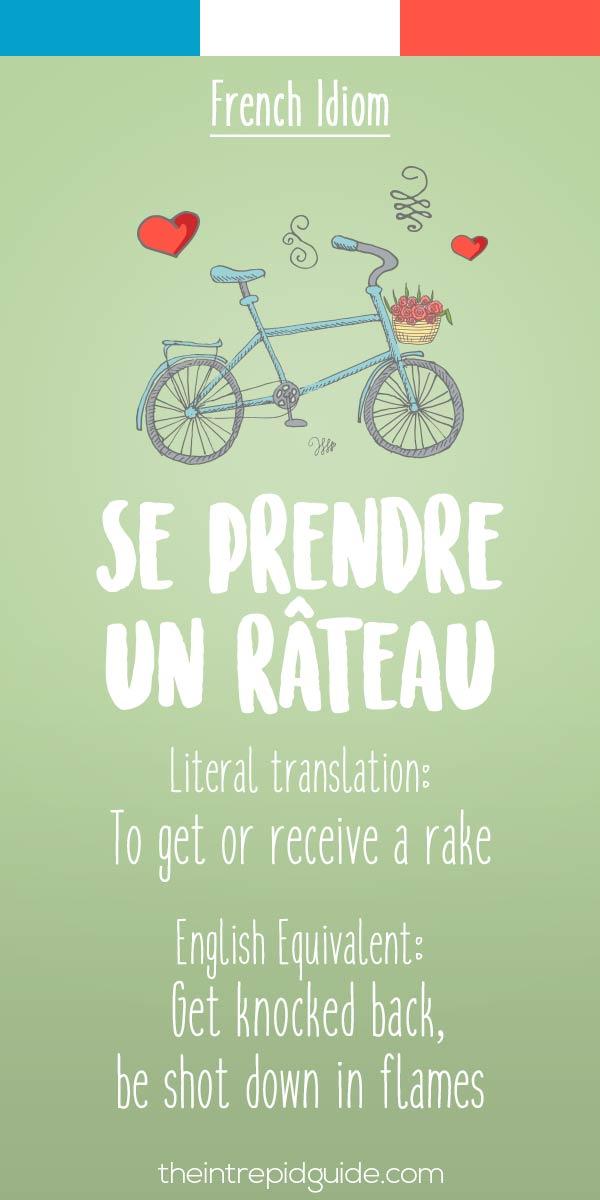 French idiom Se prendre un rateau