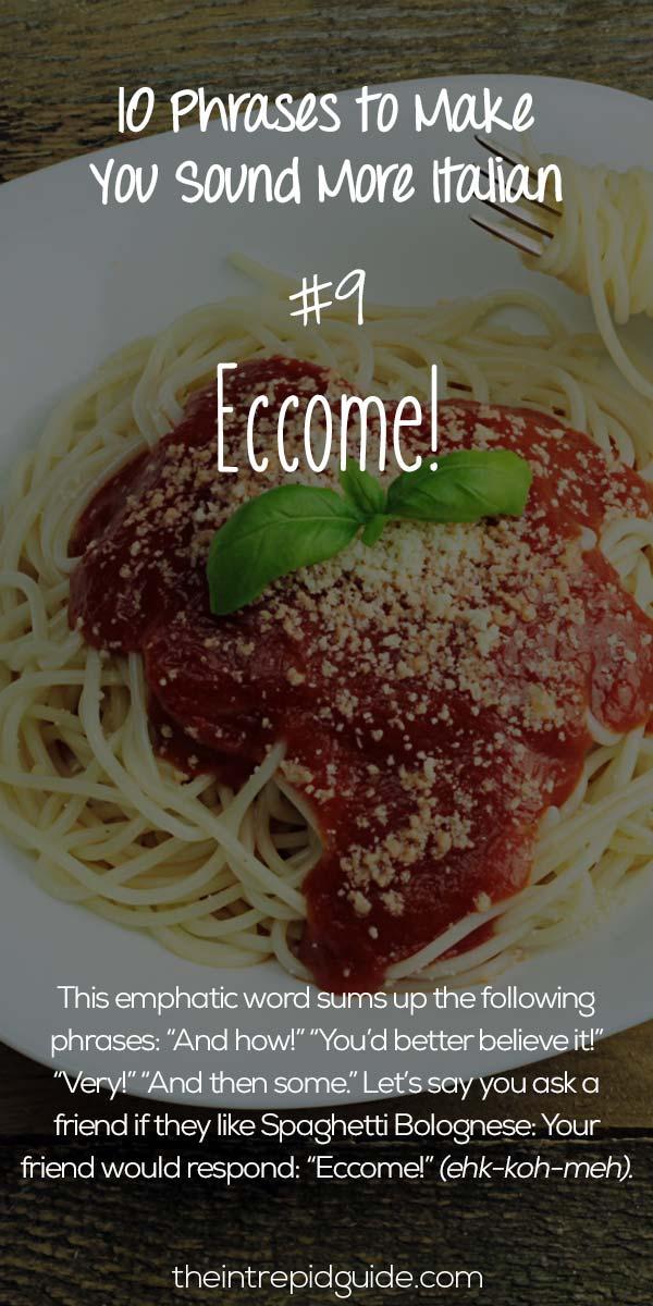 Italian Phrases Eccome