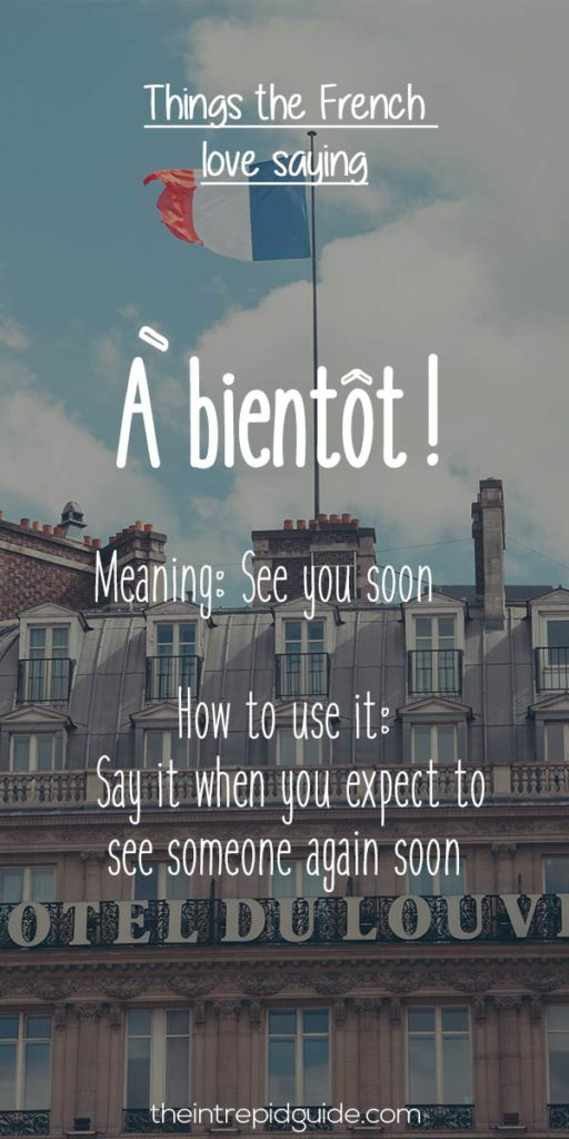 French expressions a bientot