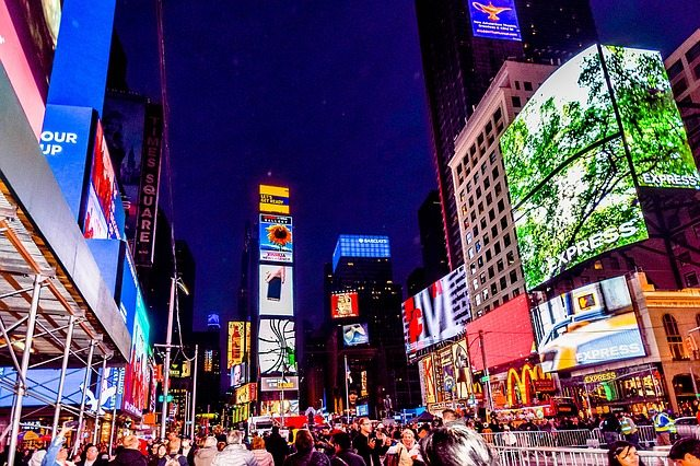 best way to learn a language pay attention to ads times square