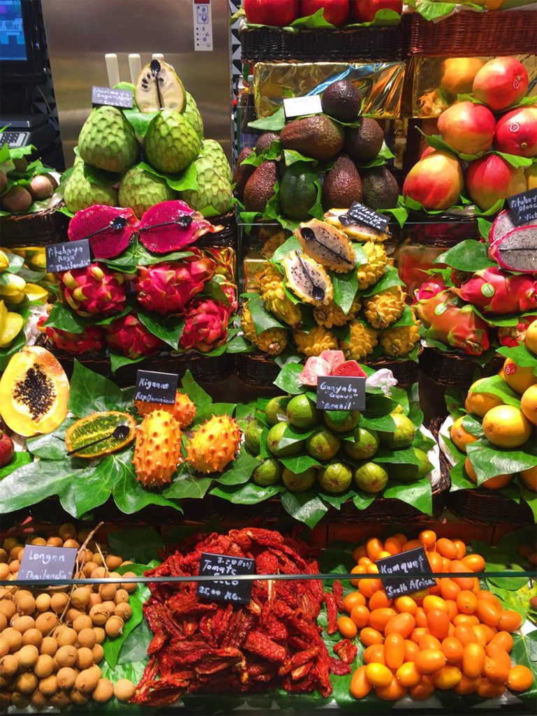 Fruit La Boqueria Barcelona