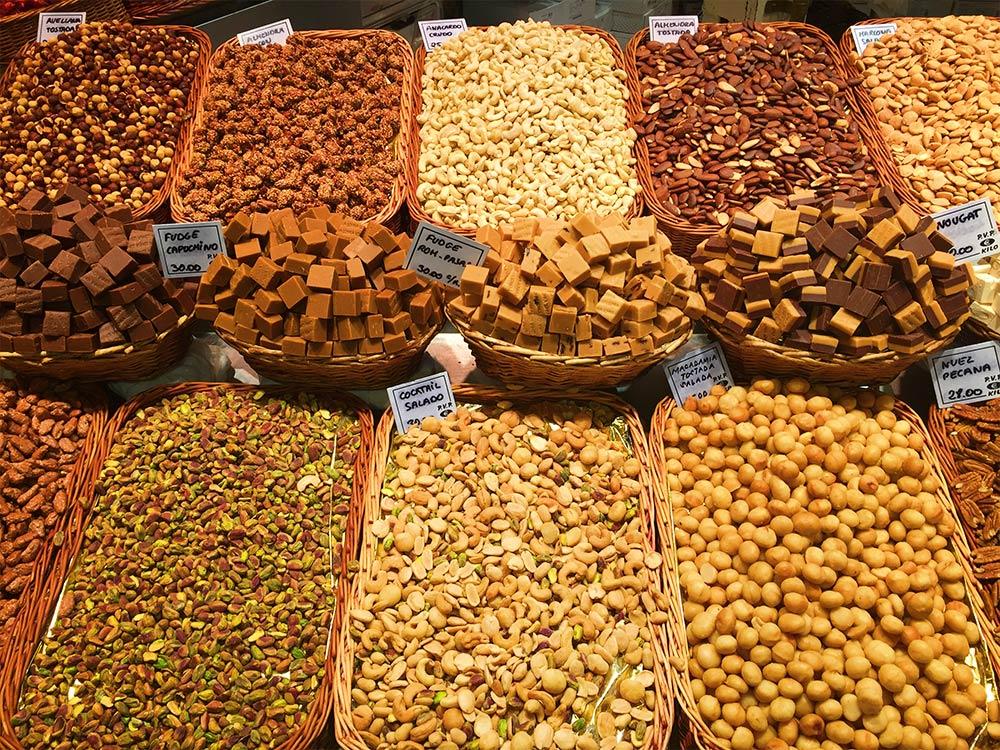 Nuts La Boqueria Barcelona