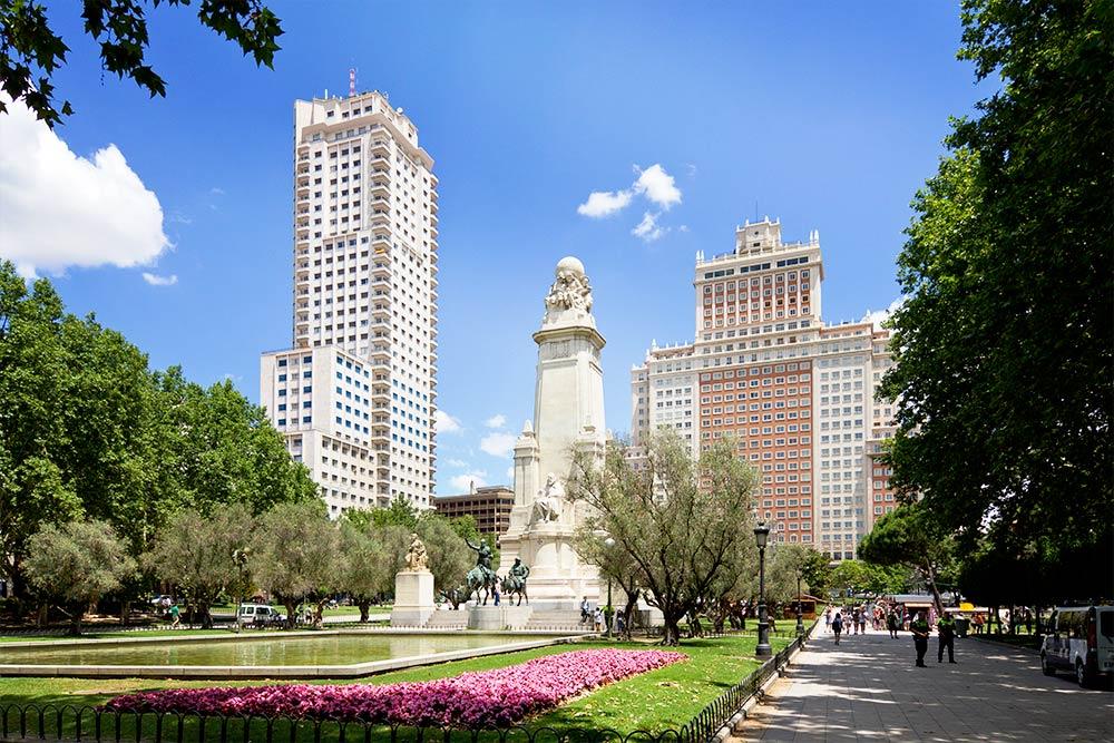 Plaza de Espana de Madrid