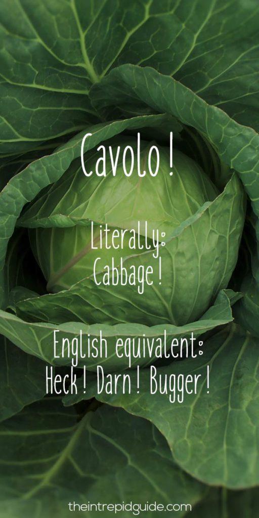 Italian Sayings Cavolo