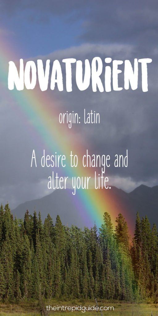 Travel Words Novaturient