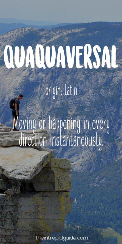 Travel Words Quaquaversal