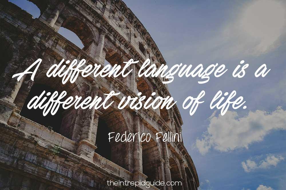 learning italian federico fellini