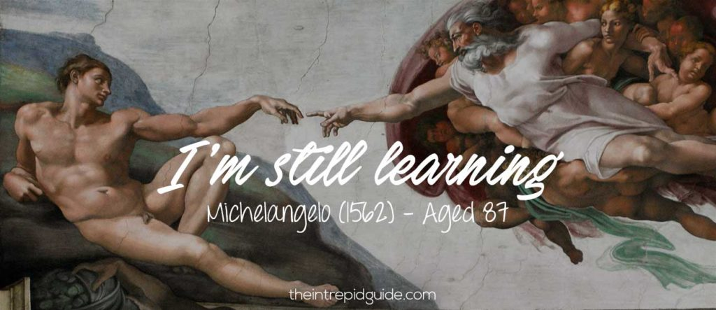 michelangelo ancora imparo i'm still learning