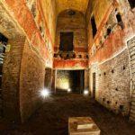 Colourful frescoes inside Domus Aurea.jpg