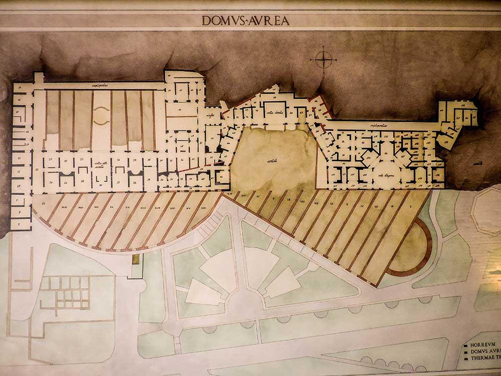 domus aurea map