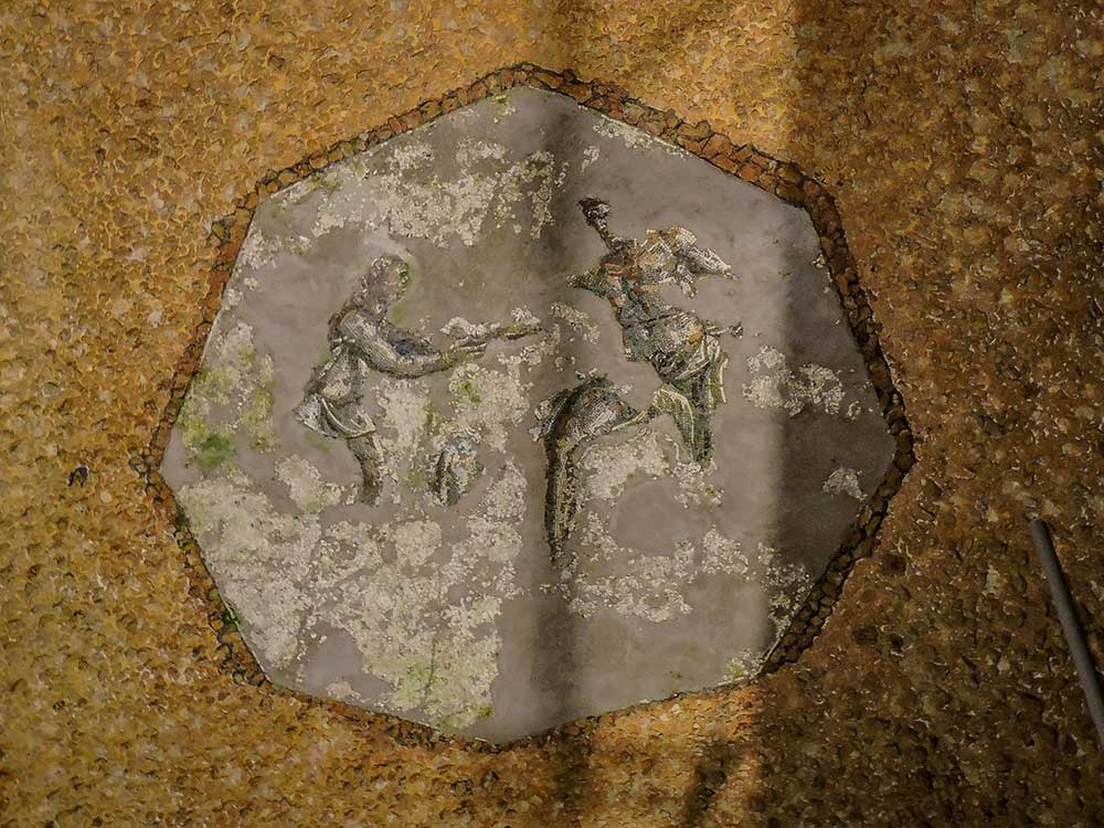 domus aurea polyphemus and ninfeo mosaic