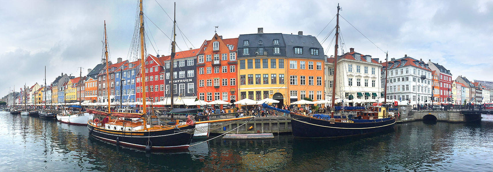 Nyhavn Coloured Buildings Copenhagen