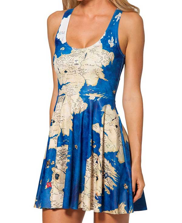 Retro World Map Dress