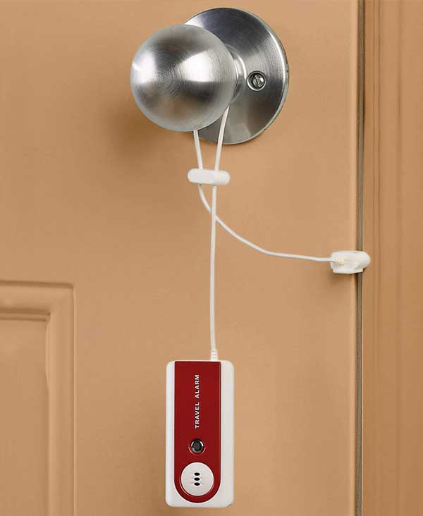 Travel Door Alarm with LED Flashlight