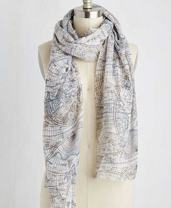 cartography scarf