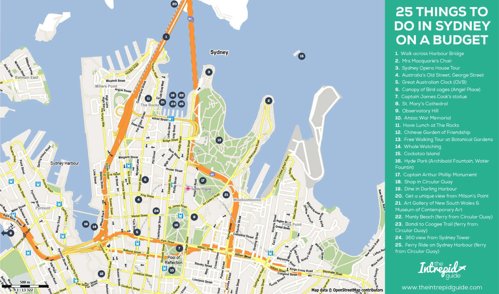 sydney city tourist map