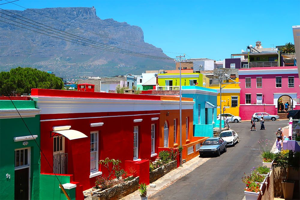 Bo Kaap and Table Mountain Cape Town