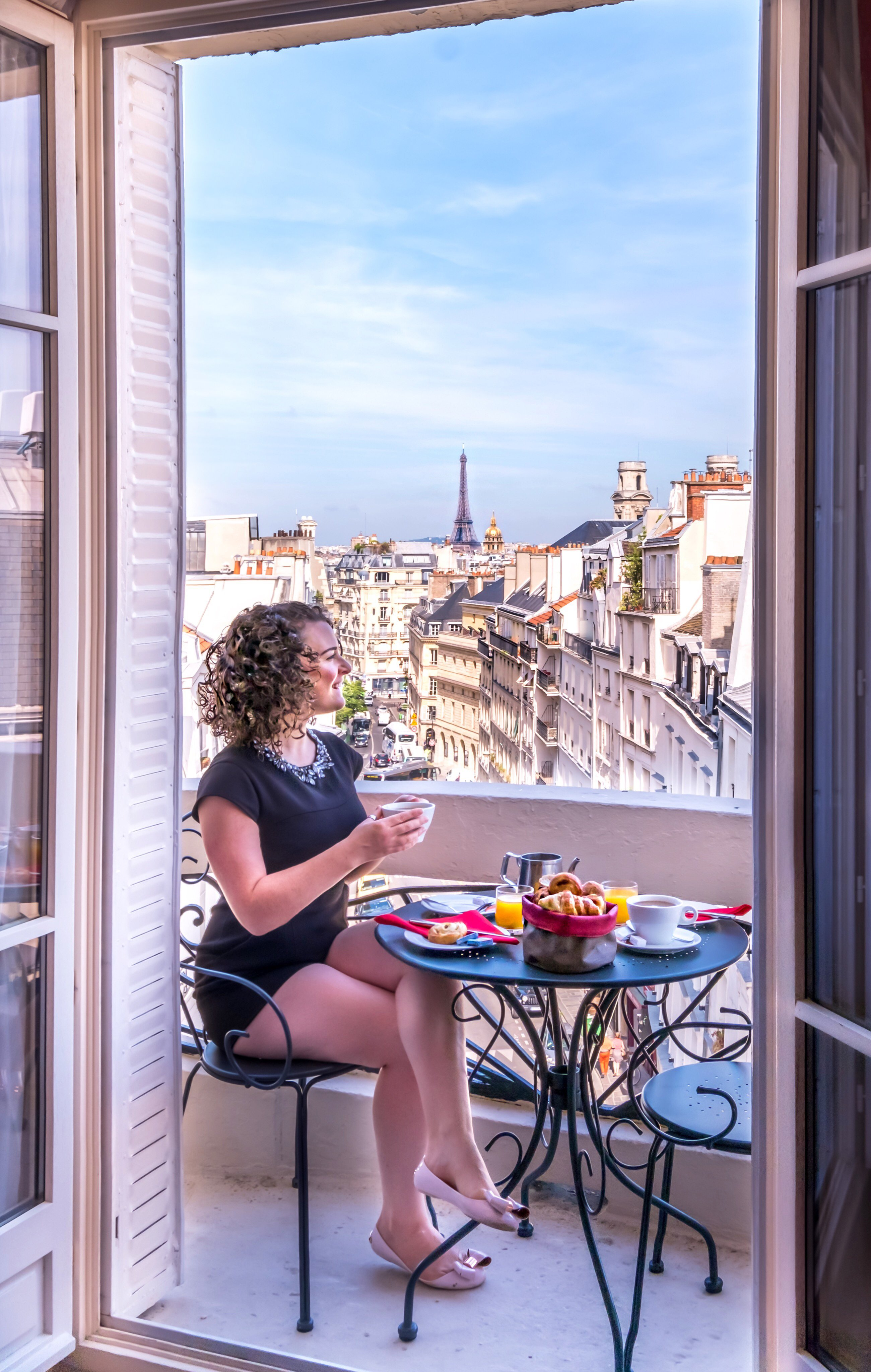 Hotel Trianon Rive Gauche Breakfast on Balcony