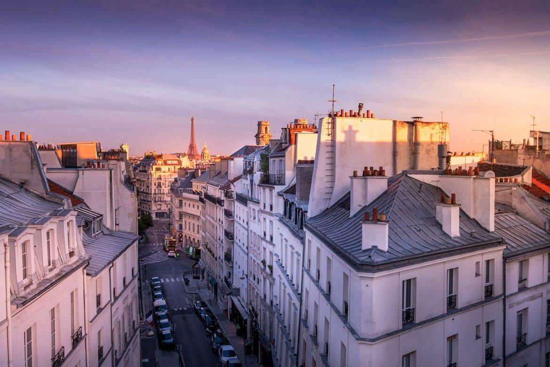 Hotel Trianon Rive Gauche Eiffel Tower Sunrise
