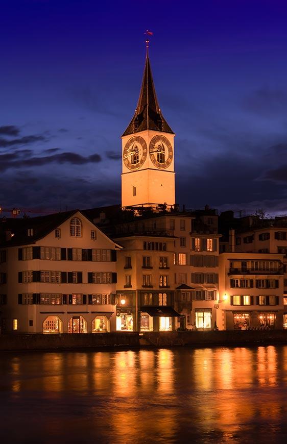 St Peters Church Clock Zurich