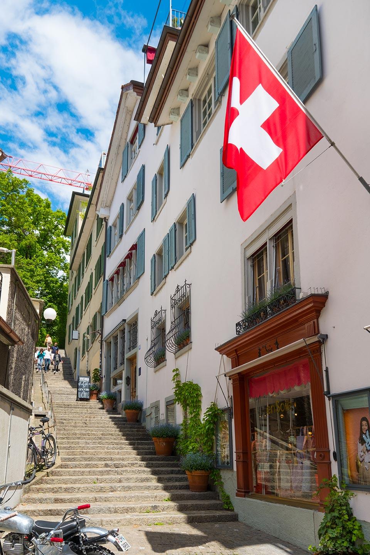 Stairs to Lindenhof Zurich