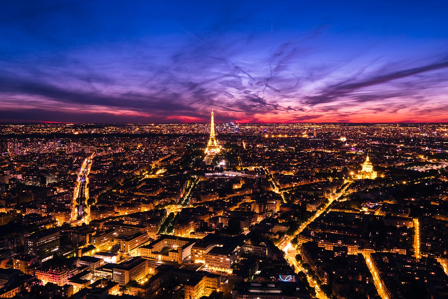 paris top attractions Montparnasse Tower sunset