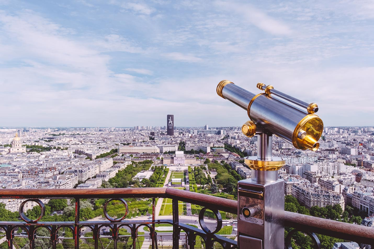paris top attractions on top of eiffel tower