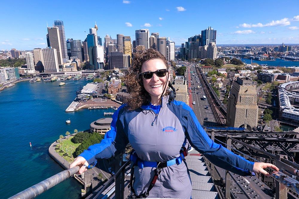 Sydney Bridge Climb View from the top
