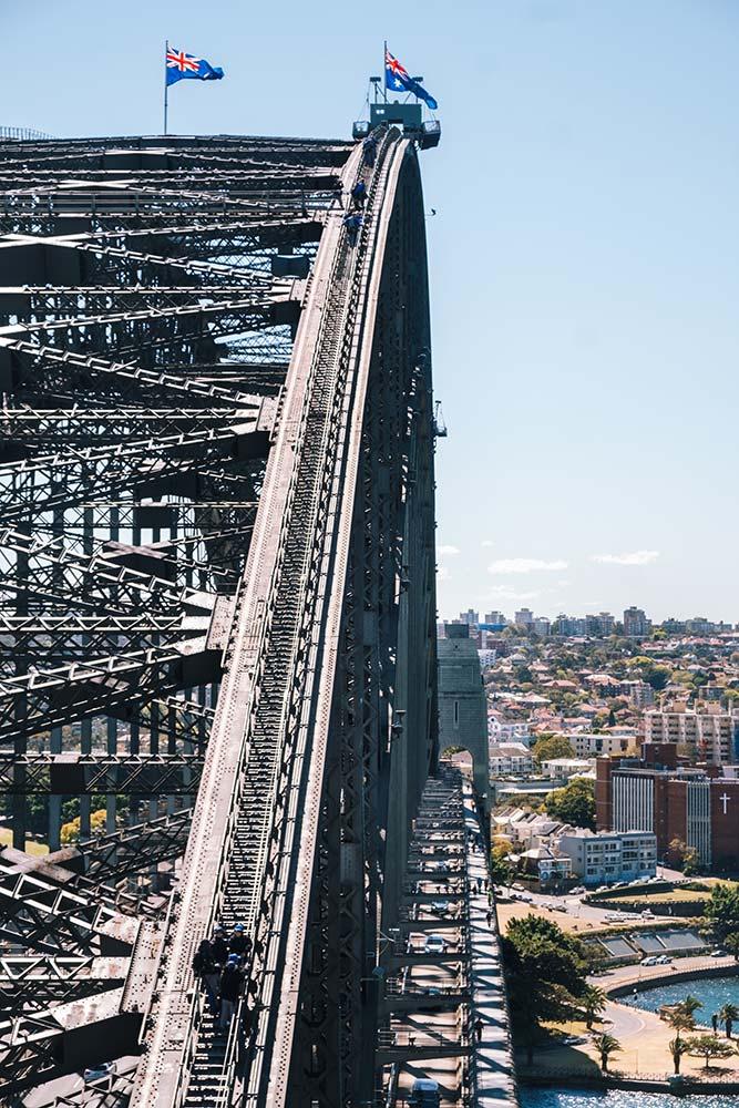 Sydney Bridge View of Climb path