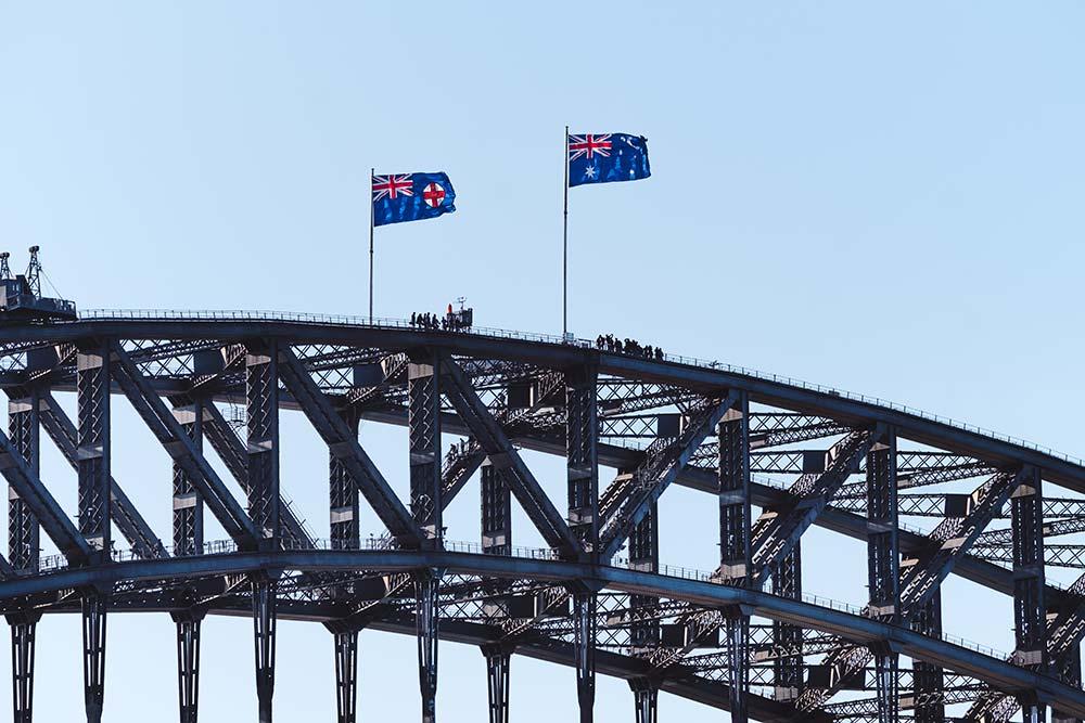 Sydney Bridge Climb People on top