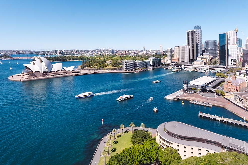 Sydney Bridge View of City of Sydney
